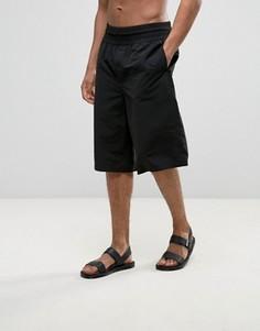 Длинные шорты для плавания с широкими штанинами ASOS - Черный