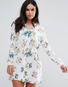 Платье-рубашка с принтом Unique21 - Синий
