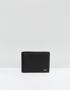 Черный кошелек с тиснением Armani Jeans - Черный