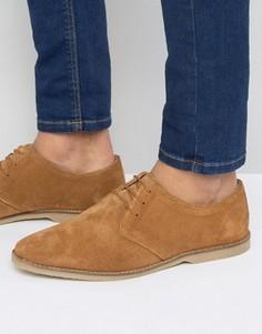 Светло-коричневые замшевые туфли дерби с отделкой ASOS - Рыжий