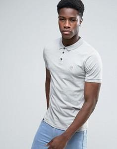 Узкая футболка-поло Le Breve - Серый