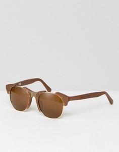 Солнцезащитные очки бронзового цвета с затемненными стеклами Markus Lupfer - Медный