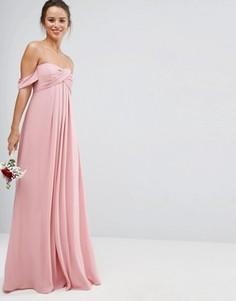 Платье-бандо макси ASOS WEDDING - Розовый