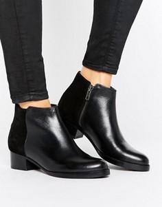Кожаные ботинки на среднем каблуке H by Hudson - Черный