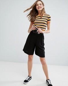 Удлиненные шорты Monki - Черный