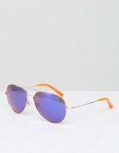 Солнцезащитные очки-авиаторы с фиолетовыми стеклами Matthew Williamson - Фиолетовый