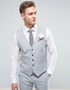 Облегающий жилет Selected Homme Wedding - Серый
