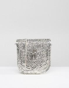 Металлическая сумка с гравировкой ручной работы Park Lane - Серебряный