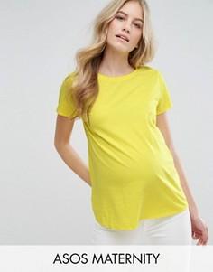 Футболка для беременных с круглым вырезом ASOS Maternity - Желтый