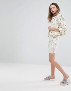 Мини-юбка с цветочным принтом Monki - Мульти