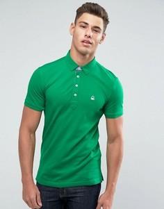 Футболка-поло слим United Colors of Benetton - Зеленый