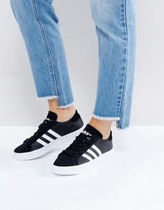 Черно-белые кроссовки adidas Originals Court Vantage - Черный