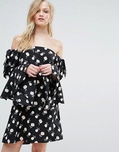 Платье со спущенными плечами Influence - Черный