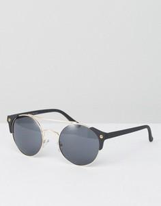 Солнцезащитные очки с планкой сверху AJ Morgan - Черный