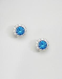 Серьги с кристаллами Swarovski Krystal London Rosetta - Синий