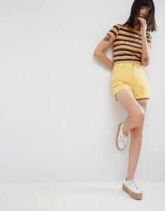 Желтые джинсовые шорты в винтажном стиле ASOS - Желтый