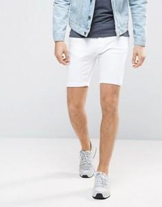 Джинсовые шорты скинни Brave Soul - Белый