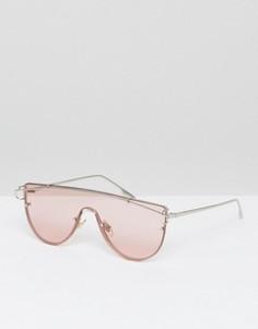 Розовые очки-маска с тонированными стеклами Jeepers Peepers - Розовый