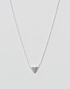 Ожерелье с сердечком Pieces - Серебряный