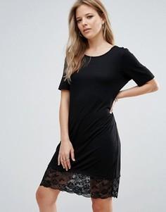 Платье с кружевным краем Brave Soul - Черный
