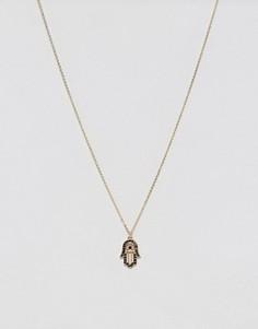 Ожерелье с подвеской хамса Pieces - Золотой