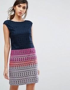 Кружевное платье-туника Ted Baker - Темно-синий