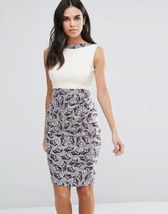 Платье-футляр два-в-одном с бабочками Vesper - Мульти