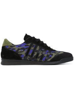 кроссовки с леопардовым принтом Dsquared2