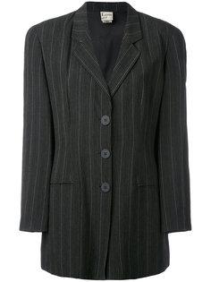 пиджак в полоску со структурированными плечами  Krizia Vintage