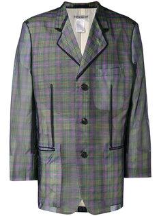 свободный пиджак с принтом тартан  Issey Miyake Vintage