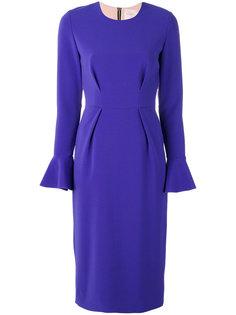 платье с рукавами-клеш Roksanda