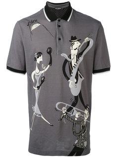 рубашка поло с музыкантами Dolce & Gabbana
