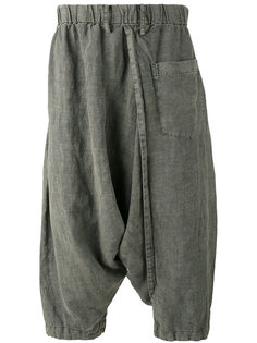 drop crotch cropped trousers Issey Miyake Men