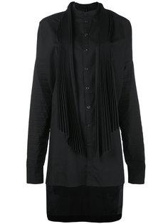 платье-рубашка с неравномерным подолом Masnada