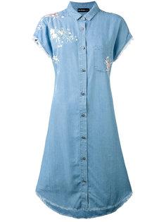 джинсовое платье с вышивкой The Kooples