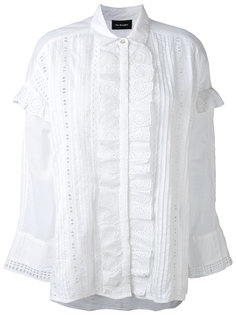 english embroidery ruffled shirt The Kooples