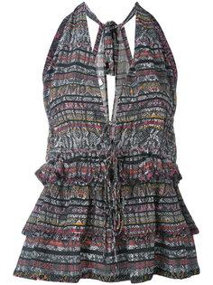 блузка с глубоким V-образным вырезом Iro