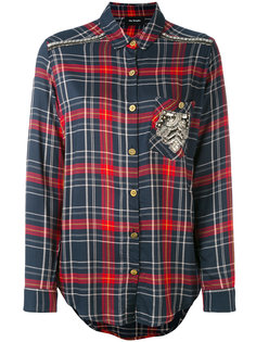 embroidered checked shirt The Kooples