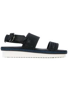 сандалии с контрастной отделкой  Bruno Bordese