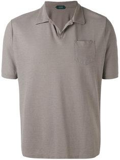 футболка-поло с нагрудным карманом Zanone