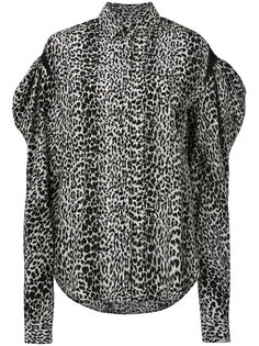 леопардовая рубашка Saint Laurent