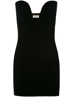 """мини-платье с вырезом """"сердечко"""" Saint Laurent"""