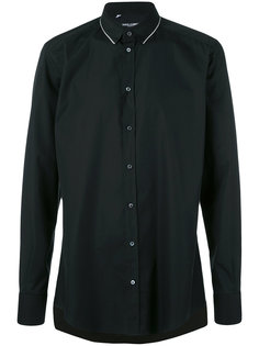 рубашка с контрастной отделкой на воротнике  Dolce & Gabbana