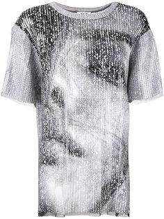 футболка с фотопринтом и пайетками  Aviù