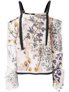 топ с открытыми плечами и цветочным принтом  Aviù