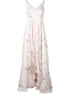 embellished floral gown Talbot Runhof