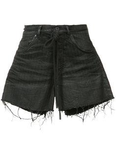 джинсовые шорты в мелкую полоску Off-White