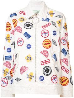 куртка с нашивками Off-White