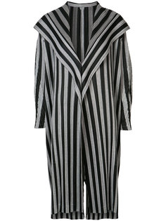 striped coat Pleats Please By Issey Miyake