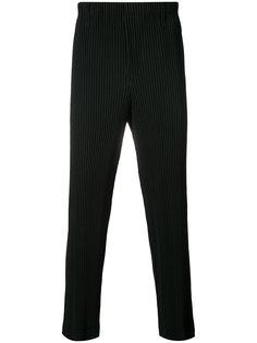 брюки в текстурную полоску Homme Plissé Issey Miyake
